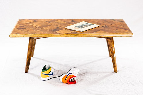 Splayed Leg Coffee Table - Reclaimed Heart Pine