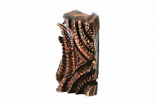 "Wood Sculpture ""VENENO"" - By Levi Smith."