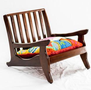 Japanese Inspired Zaisu Tatami Chair - Black Walnut
