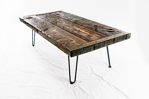 WWII Liberty Ship - Hatch Cover Coffee Table with Hairpin Legs