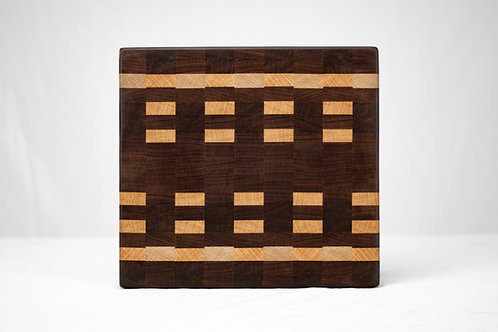 "12.5"" End Grain Cutting Board - Reclaimed Hardwoods"