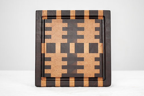 """11.75"""" Inch End Grain Cutting Board - Juice Grooves"""