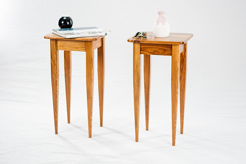 Pair of Reclaimed Heart Pine End Tables