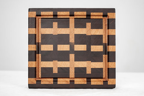 """11.5"""" Inch End Grain Cutting Board - Juice Grooves"""