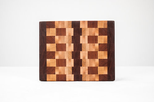 End Grain Cutting Board - Reclaimed Hardwoods
