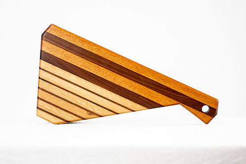 Cheese Board / Serving Board - Reclaimed Walnut, Mahogany and White Oak