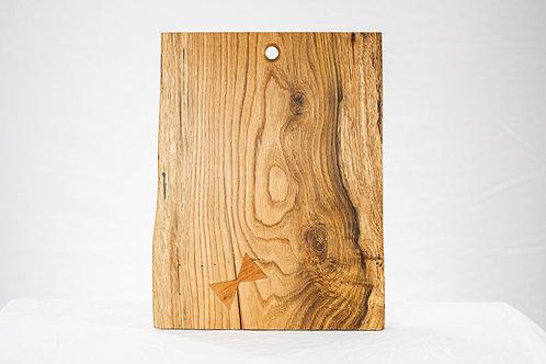 Live Edge Cheese Board / Serving Board - Reclaimed White Oak. Butterfly Key