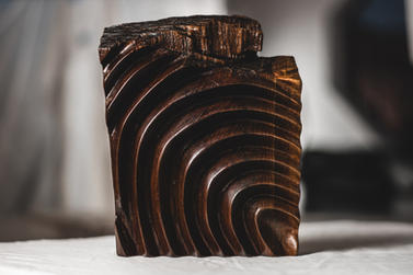 """Wood Sculpture """"Tactus"""" - By Levi Smith."""