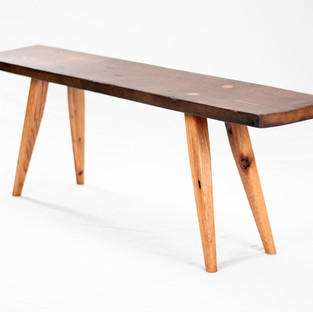 Mortised Splayed Leg Bench - Reclaimed White and Red Oak
