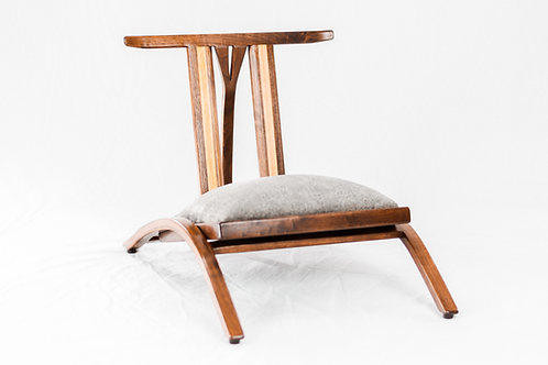 Japanese Inspired  Zaisu Tatami Chair - Black Walnut & White Oak