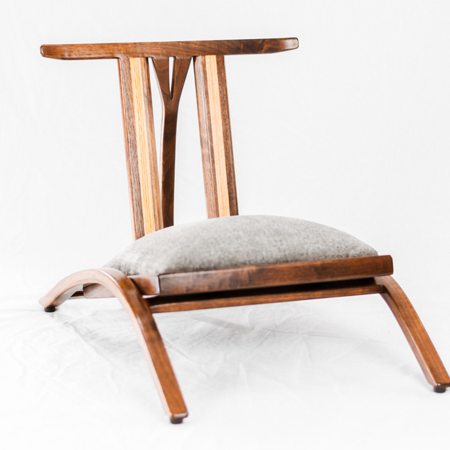 Japanese Inspired Zaisu Tatami Chair - Black Walnut & White Oak