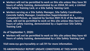 New DOB Requirement: Site Safety Training Information Signs at Construction Sites