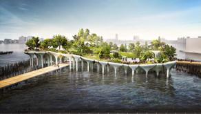 Thomas Heatherwick's Pier 55 Sculptural Concrete Pots Near Completion In Chelsea