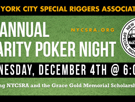 Registration Is Open for the 4th Annual Charity Poker Night on December 4, 2019