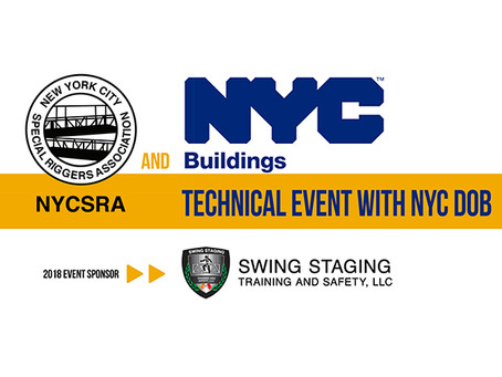 October 10, 2018 - NYCSRA Technical Event with NYC DOB