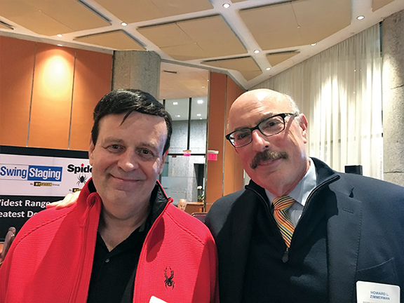 NYCSRA President John Pantanelli (left) with Howard L. Zimmerman, principal of Howard L. Zimmerman Architects PC, at the Association's 2017 Industry Discussion Event.