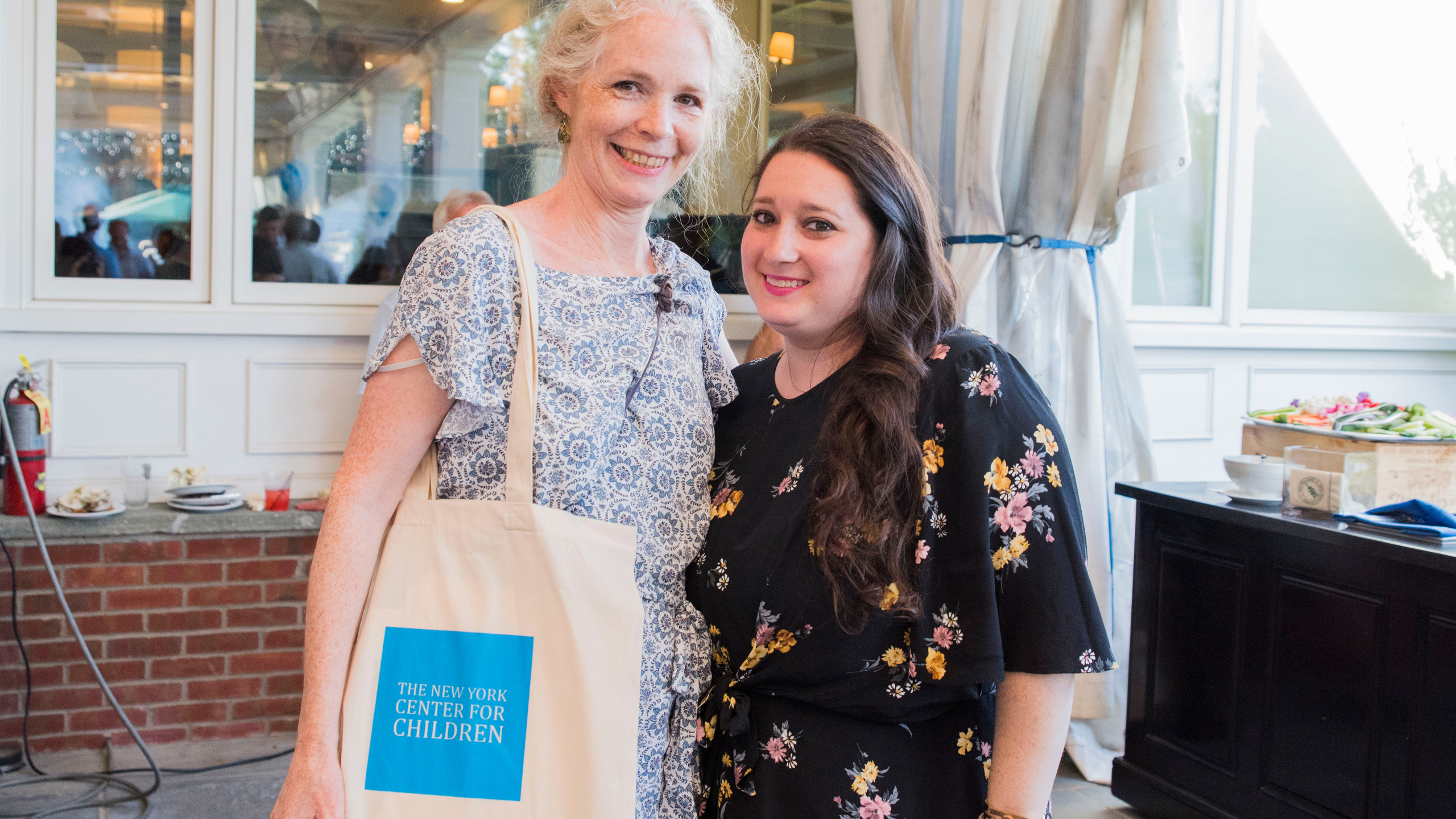 Christine Crowther (left) with Jennifer Grubman (right), The New York Center for Children.