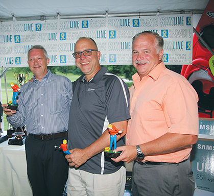 """The """"Most Honest Foursome"""" M&T Bank's golfers: (l-r) Roy Volmer, Howard Postel and Steven Benkovsky."""