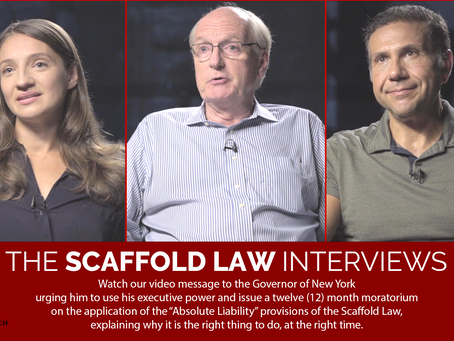 Urging the Governor to issue a 12-month moratorium on the Scaffold Law