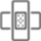 TRANSPARENT_Patch outline icon. linear s