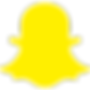 Full color Snapchat snap ghost social media icon and logo in yellow cut out - The Best Marketing Agency