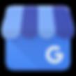 Google my buisness social media light and dark blue icon and logo - The Best Marketing Agency
