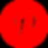 Pinterest logo icon social media new bright red big white P - The Best Marketing Agency