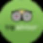 Green trip advisor social media icon logo in gree circle - The Best Marketing Agency