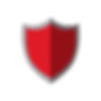 Red privacy defender sheild with gray outline canva clipart - The Best Marketing Agency