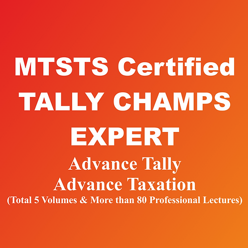 MTSTS Certified Tally Champs Expert