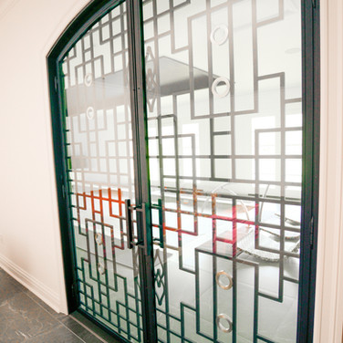 Custom Iron & Glass entry