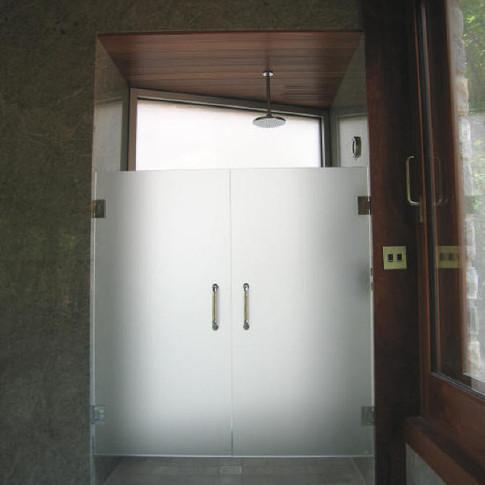 Acid Wash Glass shower doors
