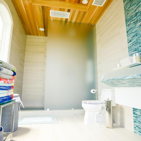 Cabana Glass shower splash panel