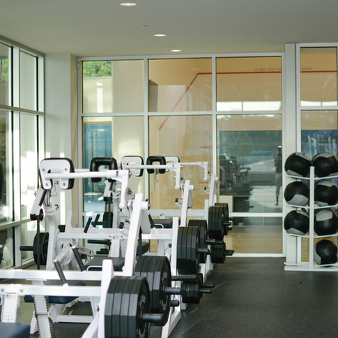 Gym glass walls