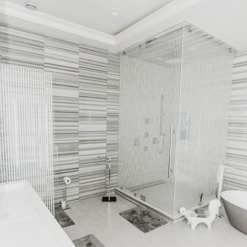 """1/2"""" custom glass shower enclosure"""