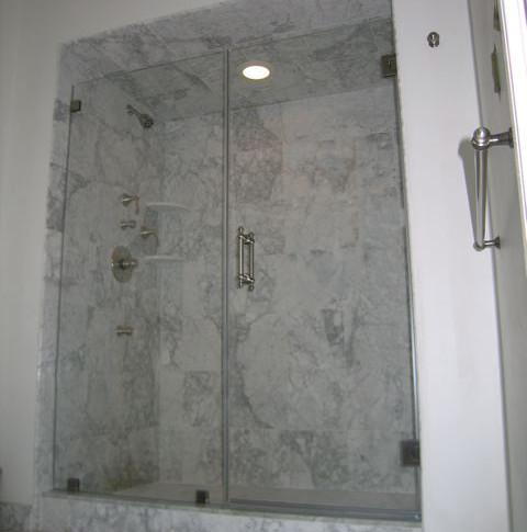 1/2' frameless glass shower enclosure