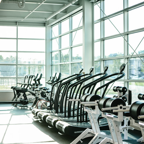 Exercise room Glass Walls