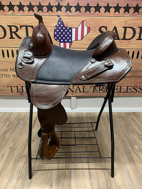 "#11805 - 16"" Border Tooled Trail Rider"