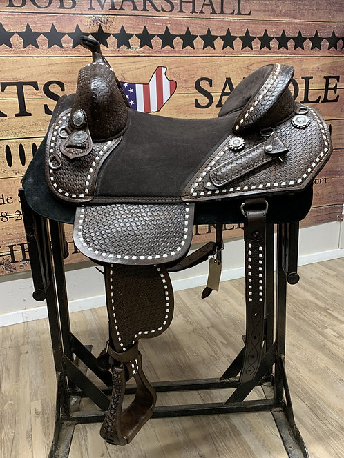 """#11354 - 16.5"""" Hand Tooled Trail Rider"""