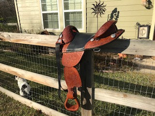 "#2150 - 15"" Deluxe Endurance Saddle (Used)"