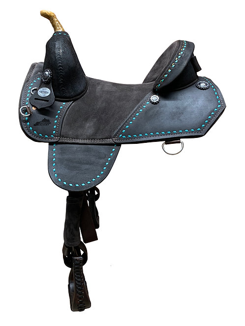 Chocolate Roughout Barrel Racer (QS3)