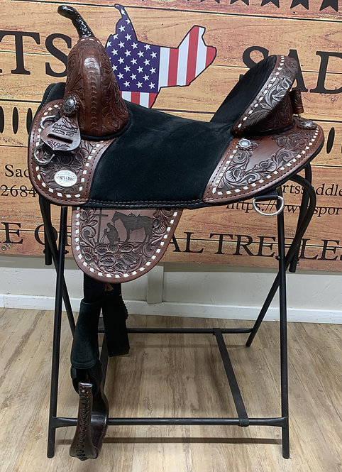 "#11448 15"" Border Tooled Barrel Racer"