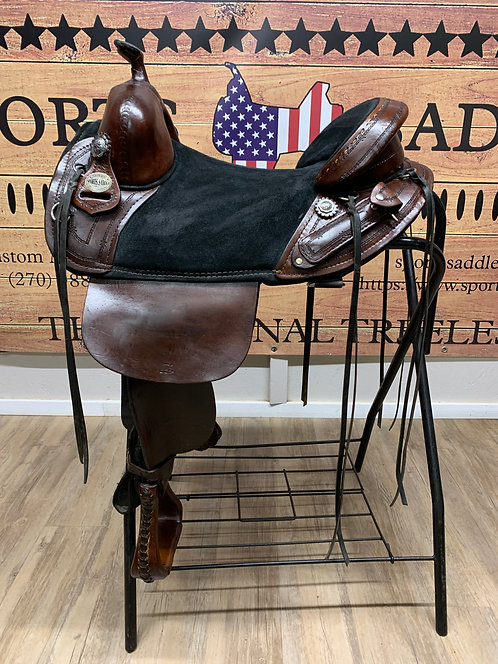 "#11291 - 16"" Border Tooled Trail Rider"
