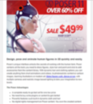 Poser 11 email marketing