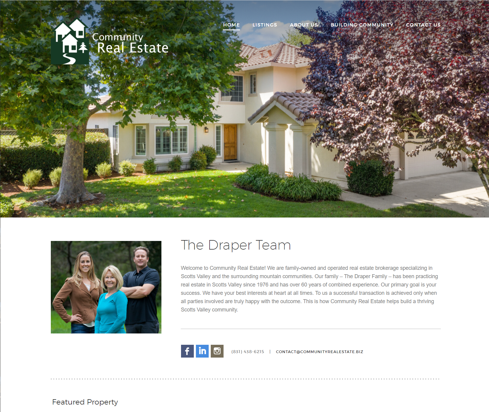 WordPress Website Redesign for Community Real Estate Website
