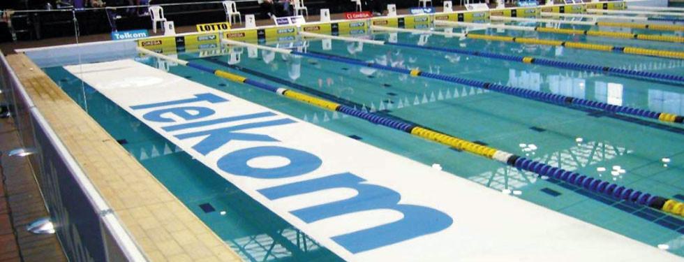 Telkom branded floating banner