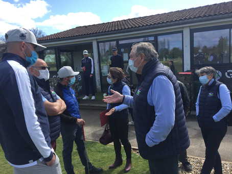Rencontre des responsables du golf d'Aiguelèze