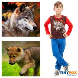 Лонгслив. Детская одежда.волк
