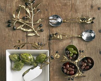 OLIVE BRANCH GOLD_casserole_serving set_