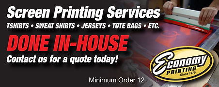 Screen Printing Services website Ad rev.